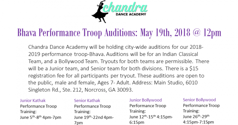 Bhava Performance Troop Auditions